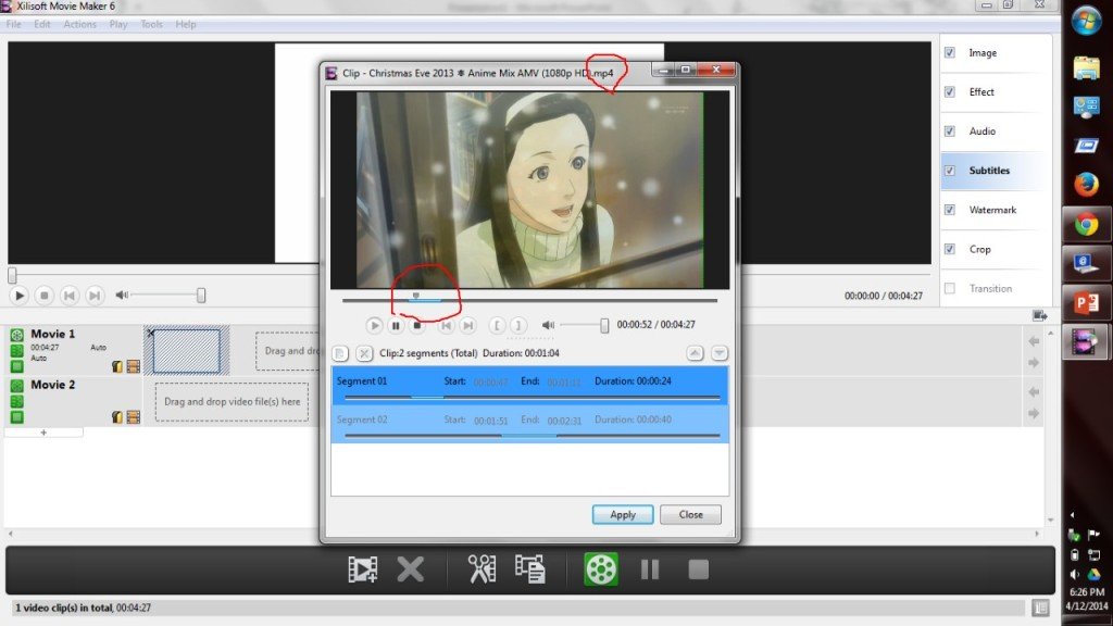 how to put subtitles on your video windows movie maker