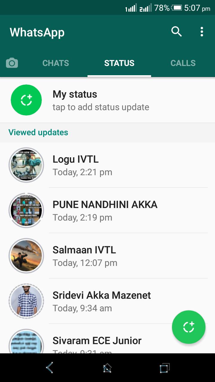 Whatsapp Status Screenshot